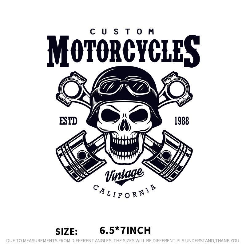Patches do crânio do vintage adesivos para o pano diy motocicletas piloto doméstico engomadoria no remendo Appliqued parches de transferência de calor