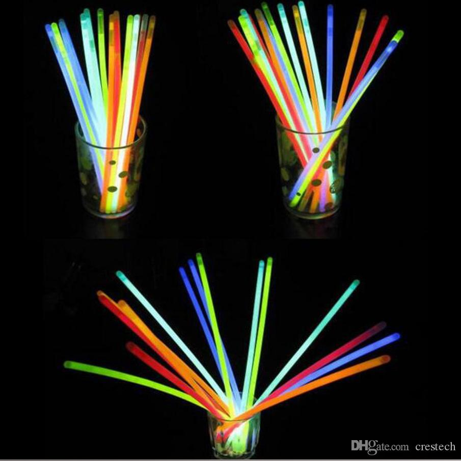 20CM Glow Stick Многоцветный Браслет 100 шт. За лот Glow Stick Браслеты Смешанные Цвета Партия Сувениры Поставки загораются Игрушки