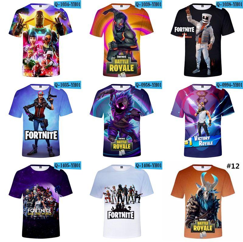 Acheter T Shirts 3d De Dessin Anime De Fortnite Pour Hommes T Shirt
