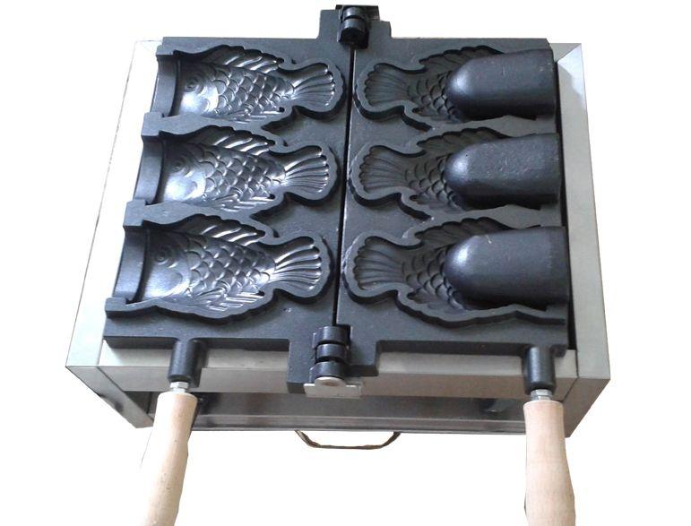 Бесплатная доставка 3 шт. Рыба Вафельница Мороженое Taiyaki Машина Рыба Конус Чайник