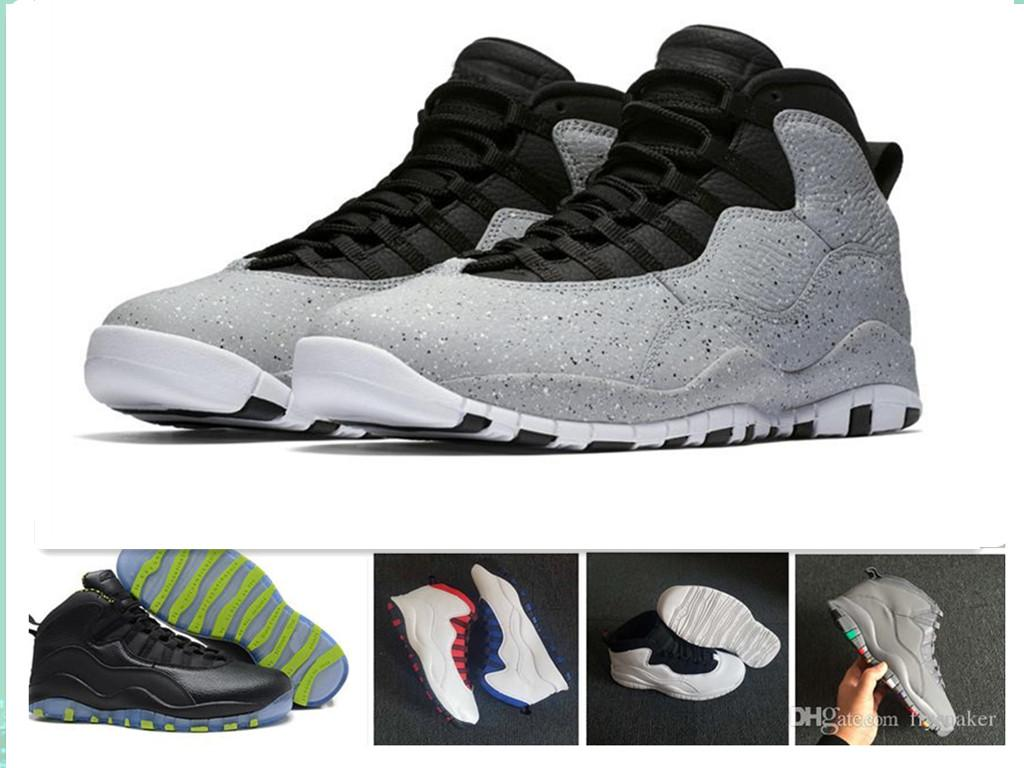 ab06824616e7 Wholesale Cement 10 Westbrook 10s I M Back White Black Cool Grey Bobcats  Chicago Steel Grey Men Basketball Shoes 10 Sneakers Size 7 13 Childrens  Running ...