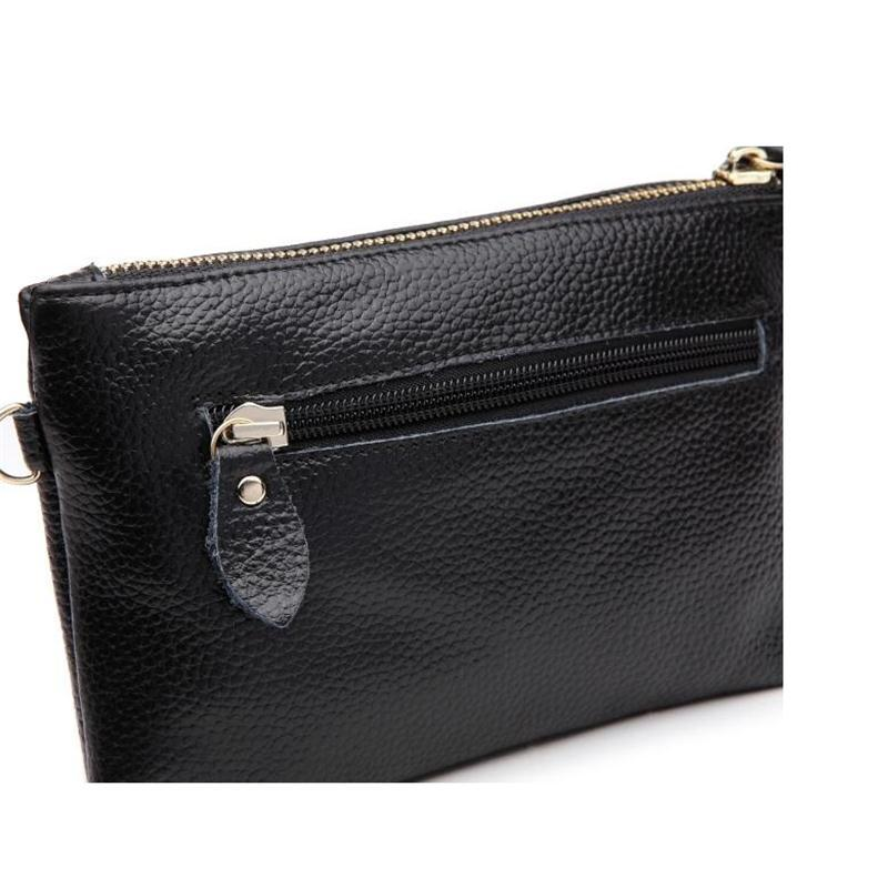2018 New Brand Women Casual Small Evening Clutch Bag Genuine Leather Ladies Luxury Shoulder Bags High Quality Cow Leather Purses