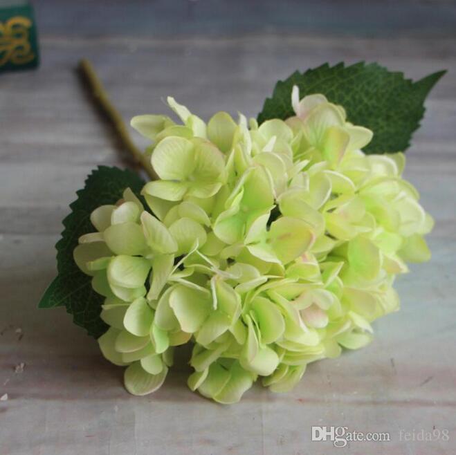 Hortênsia artificial Flor 47 cm de Seda Falso Único Real Toque Hortênsias para Centrais de Casamento Festa Em Casa Flores Decorativas GA15