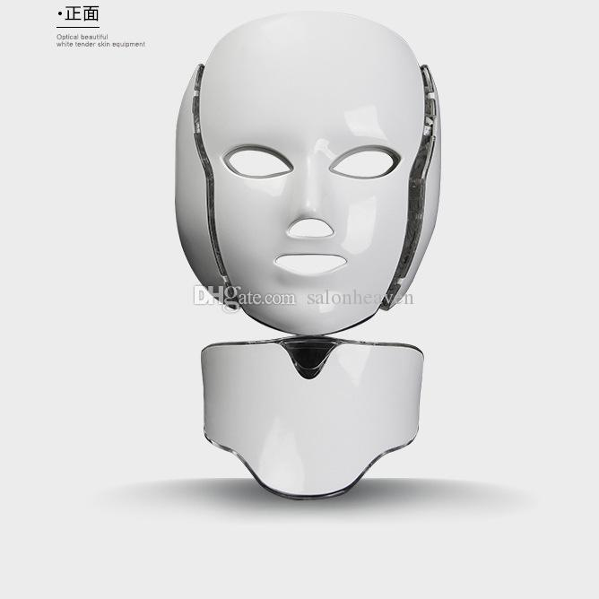 LED Facial Mask 7 PDT Photon Colors For Face And Neck Microcurrent LED Light Therapy Skin Rejuvenation Facial Machine Portable Home Use