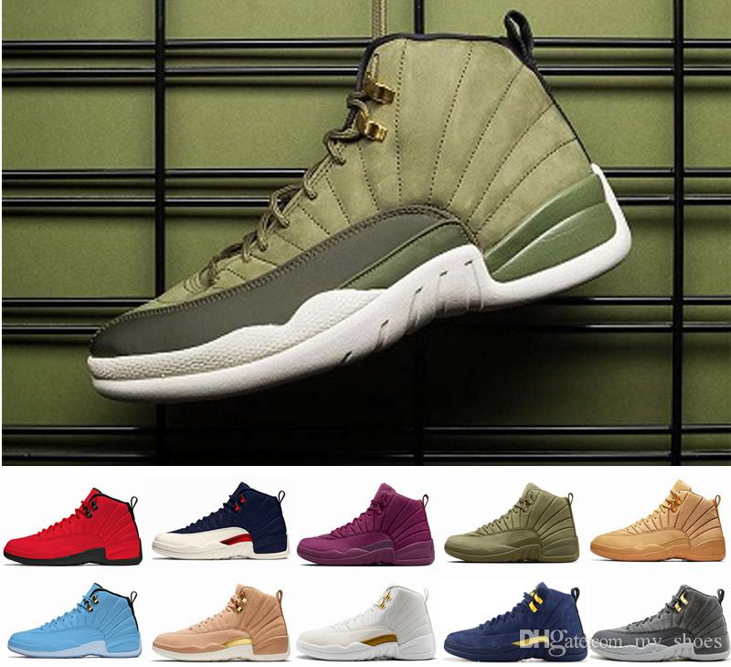 066a4f133430ab 12s Graduation Pack Chris Paul Class Of 2003 Men Basketball Shoes for Mens  CP3 Green Suede 2018 Sports Sneakers 12 Michigan UNC Sneakers 6s Mens  Trainers ...