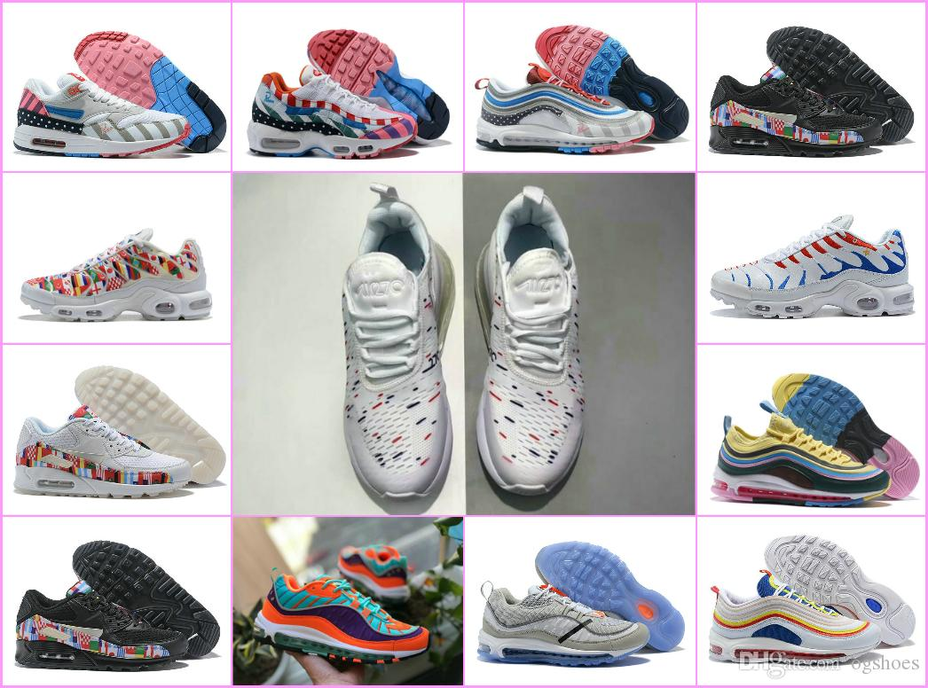 2019 Air New 270 Piet Parra X 1 White Multi RunninG Shoes 97 95 Off Black  Forces Chaussures Maxes Plus TN 98s Sports Sneakers Sport Shoes Mens  Sneakers From ... 984dbd9c8