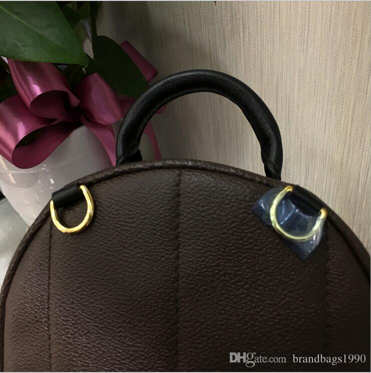 Hohe qualität klassische designer rucksäcke frauen springen mini rucksack echtes leder kinder schultasche frauen drucken leinwand mode taschen