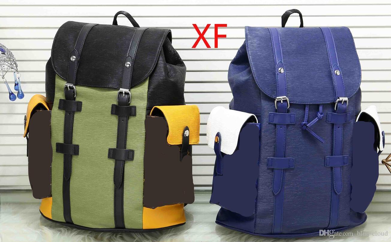c6bf4a8cc1 High Quality Designer Brand Women Men Large Pu Leather Backpack Fashion Two  Tone Handbag Purse School Shoulder Bag Luggage Backpacks 41379 Drawstring  ...