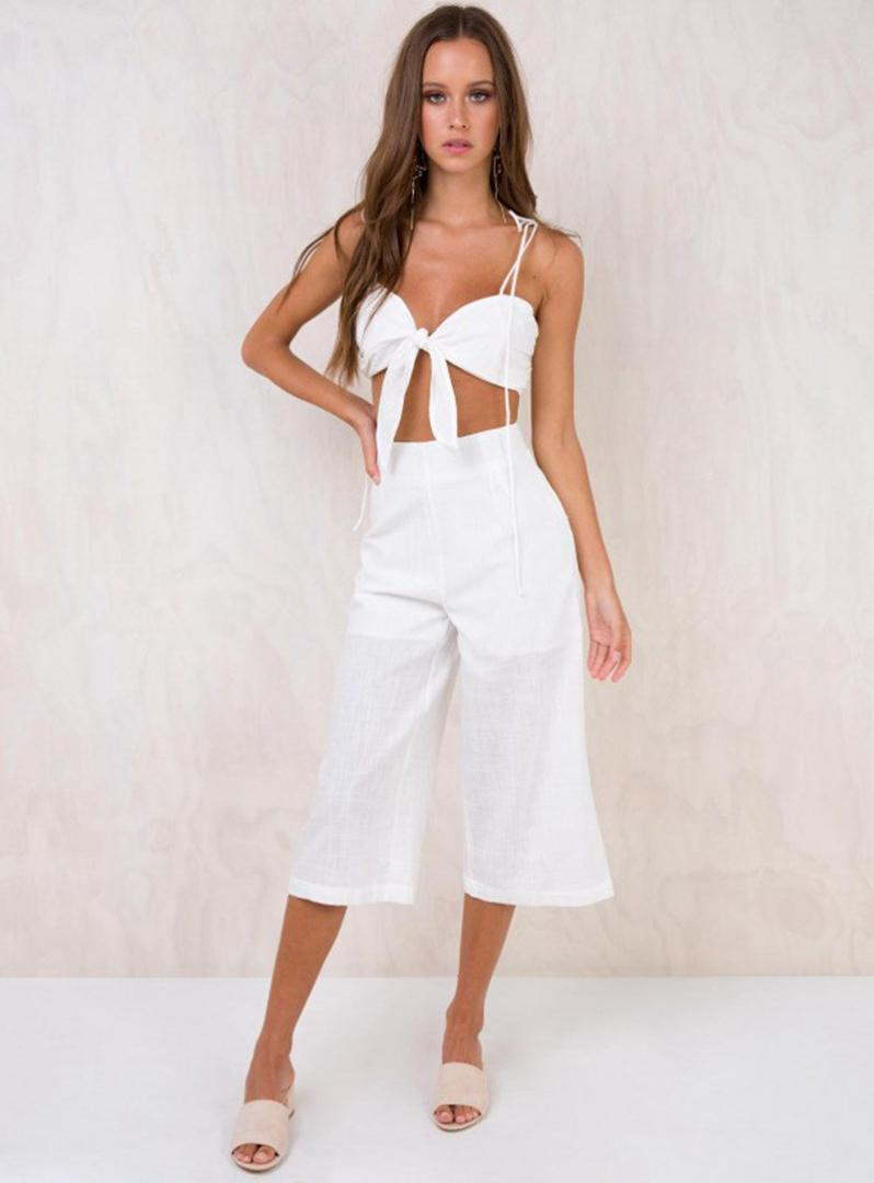 00211270a95 2019 2018 Summer New Bow Tie Front Women Crop Top Fashion Sleeveless Pleat  Tank Tops Streetwear Sexy Slim Solid Short Camis From Honhui, $36.83 |  DHgate.Com
