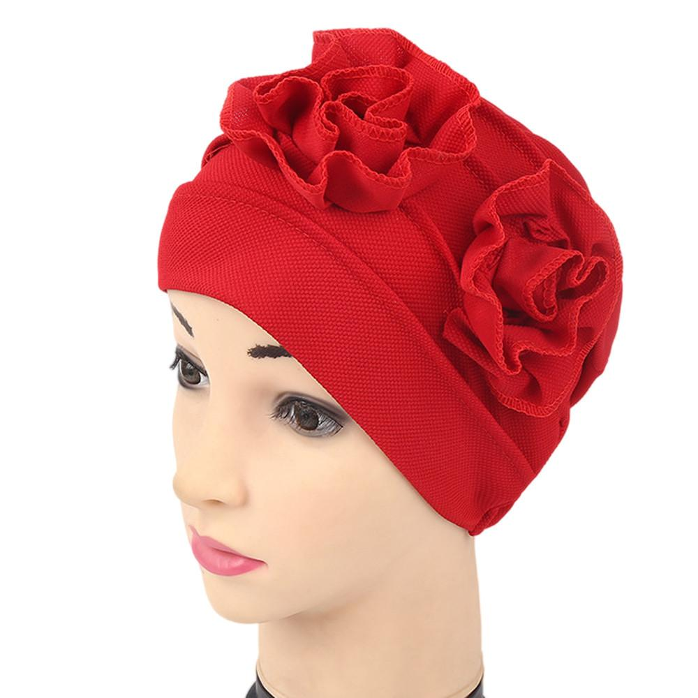 d3e85f474d7d9 2019 Women Muslim Ruffle Cancer Chemo Hat Beanie Scarf Turban Head Wrap Cap  Muslim Baotou Hat Chemotherapy Cap Polyester From Marigolder