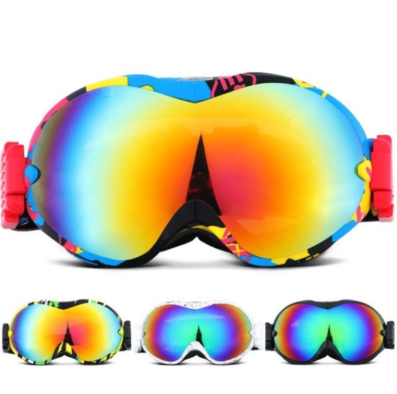 56f6305cbe02 Ski Goggles Double Layers UV400 Anti-fog Big Ski Mask Sunglasses ...