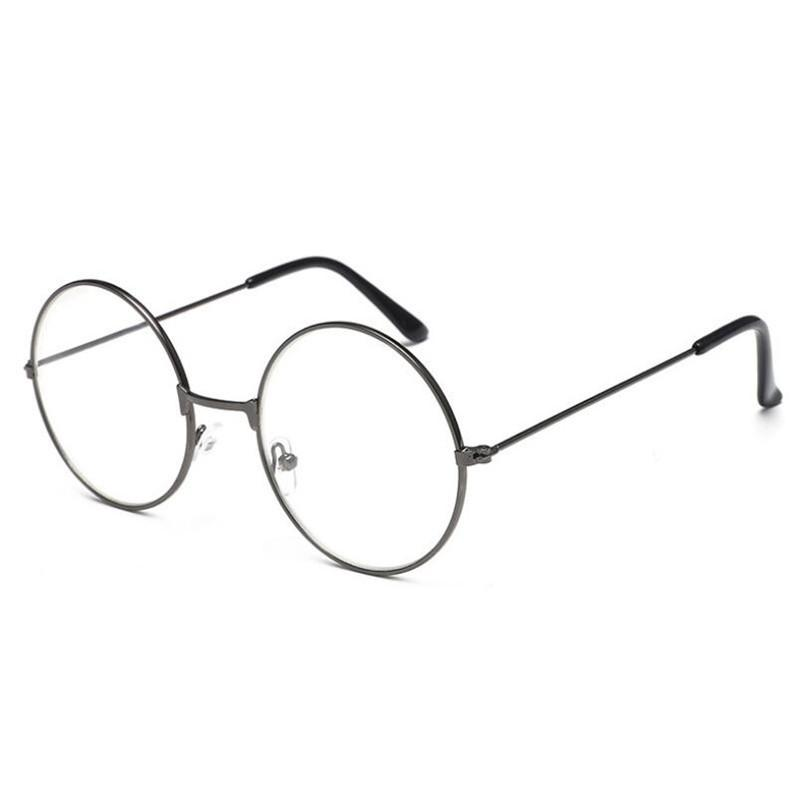 623d958ec62a 2019 Round Spectacle Reading Glasses For Metal Frame Glasses Plain Mirror  Presbyopia Male Female Reading Glass From Tiebanshao