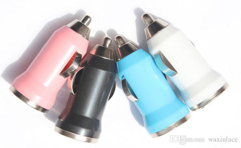 For Iphone7 USB Chargers Colorful Bullet Car Charger 5V 1A Mini USB Car Charger Adapter For Smart Phone Mp3 Mp4 Tablet Factory Direct
