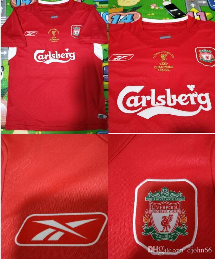 cb5c49dc560 2019 04 05 Final Istanbul Retro Soccer Jersey #8 Gerrard 2005 #14 Alonso  Champion Football Shirts Vintage Throwback Calcio MAGLIA From Djohn66, ...