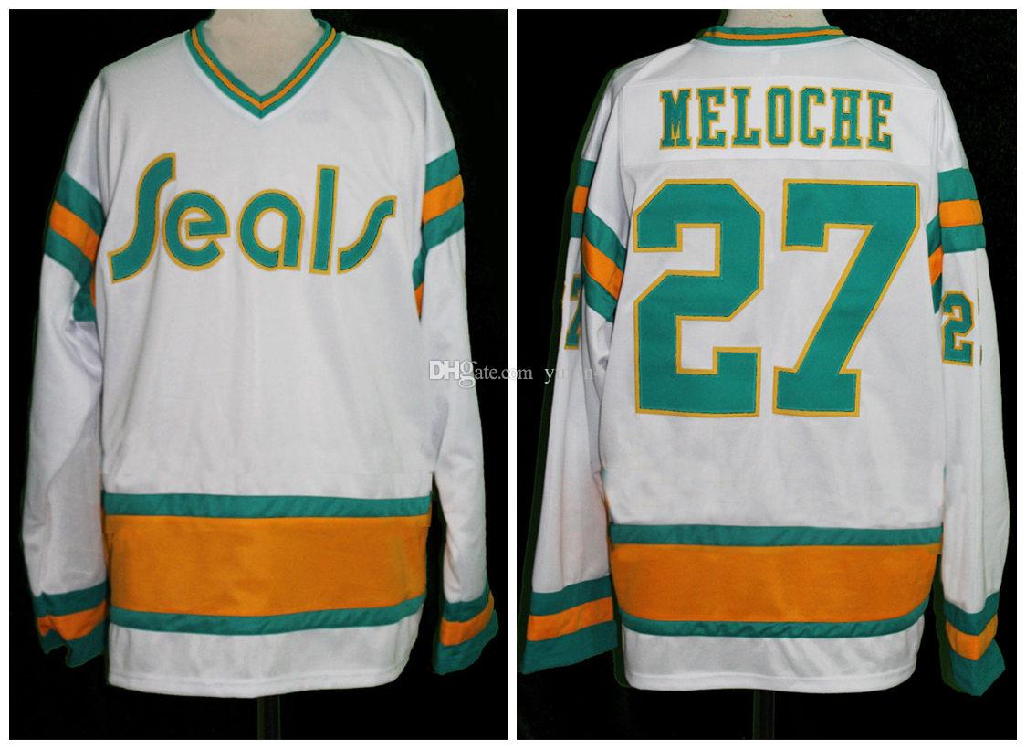 2019 Gilles Meloche  27 California Golden Seals Retro Ice Hockey Jersey  Mens Stitched Custom Any Number And Name Jerseys From Yufan4 cdb28d17c