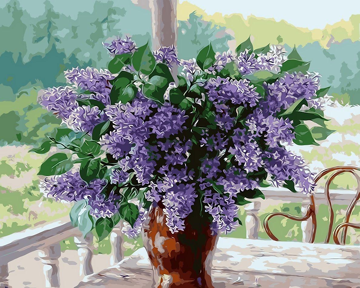 2019 16x20 Inches Vintage Diy Lavender Flowers In Vase By