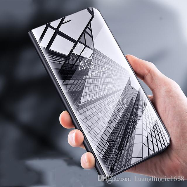 huge discount 2035b ea58e For Samsung Galaxy note 8 Case note 9 Luxury Mirror Flip Leather Stand  Smart View Case For Samsung note 9 Funda