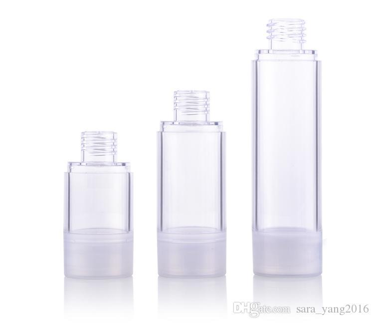 15ml 30ml 50ml Crema Airless Bottle Clear AS Plastic Lotion Sub-embotellado con bomba de vacío Botella de suero Muestra botella Divide wen5428
