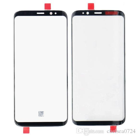 By DHL Touch panel Replacement For Samsung Galaxy S8 G950 G950F / S8 + plus G955 black Front Outer Glass Lens