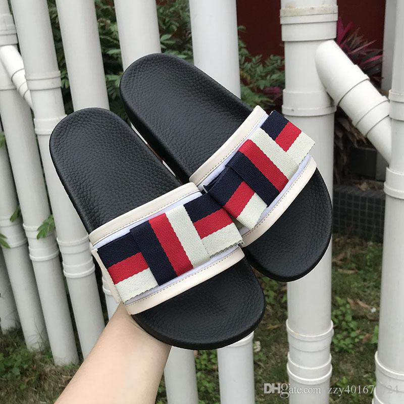 4afeb7978ce7 2018 Luxury Designer Brand Women Sandals Women Slippers Beach ...