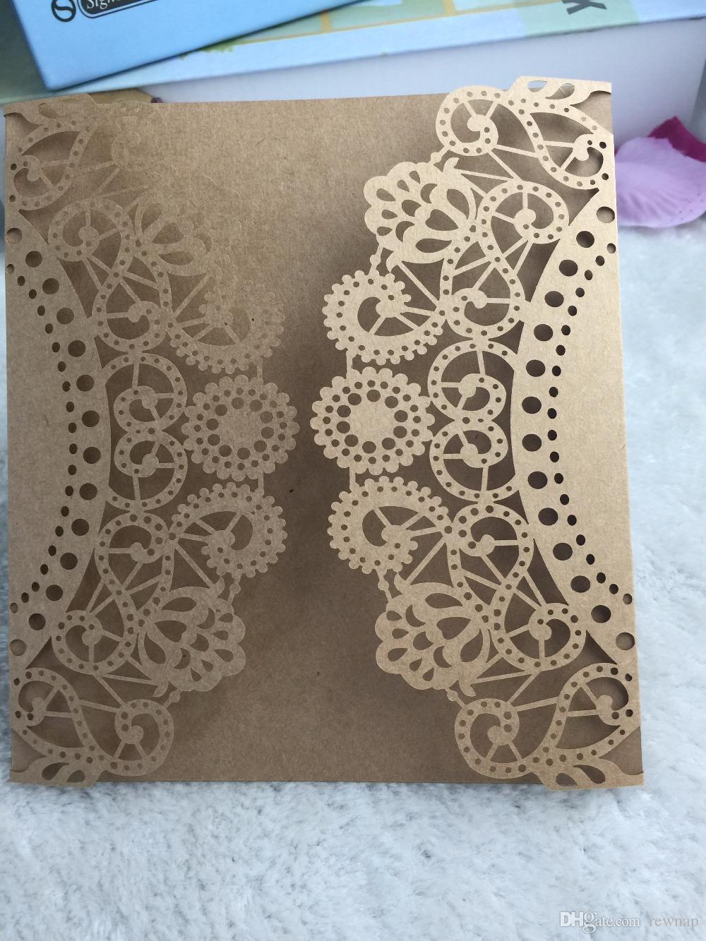Wholesale Happy Birthday Greeting Cards Handmade Laser Cut Kraft
