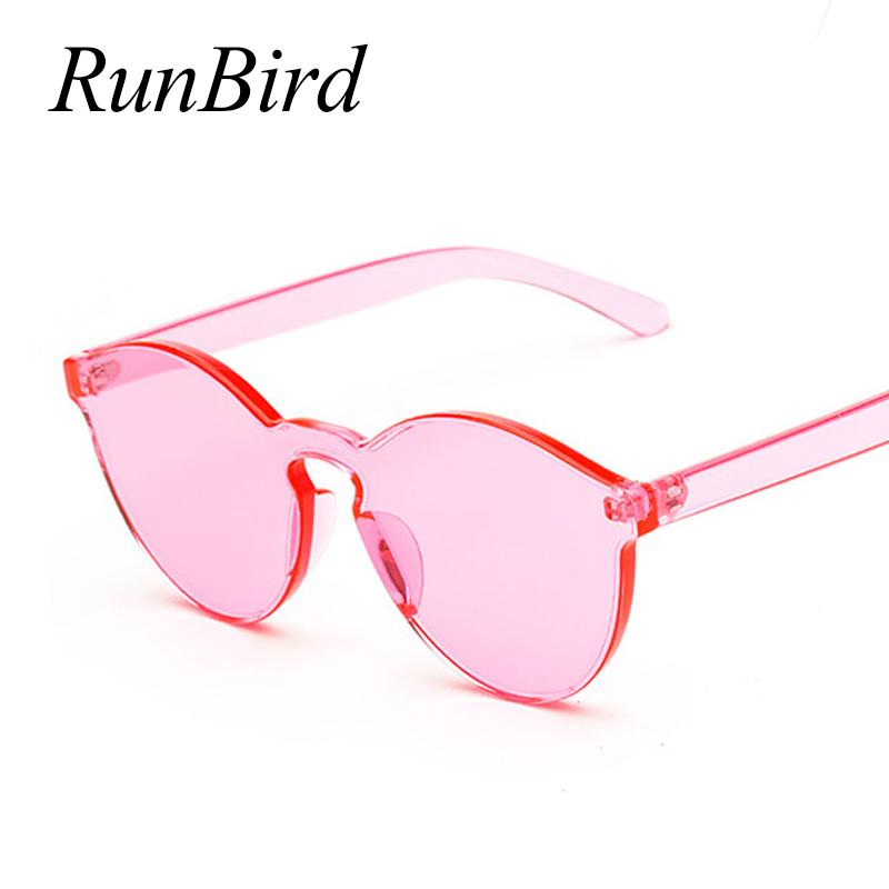 8a9e899ec0 RunBird One Piece Lens Sunglasses Women Transparent Plastic Glasses Men  Style Sunglasses Clear Candy Color Brand Designer 730R Best Sunglasses For  Men ...