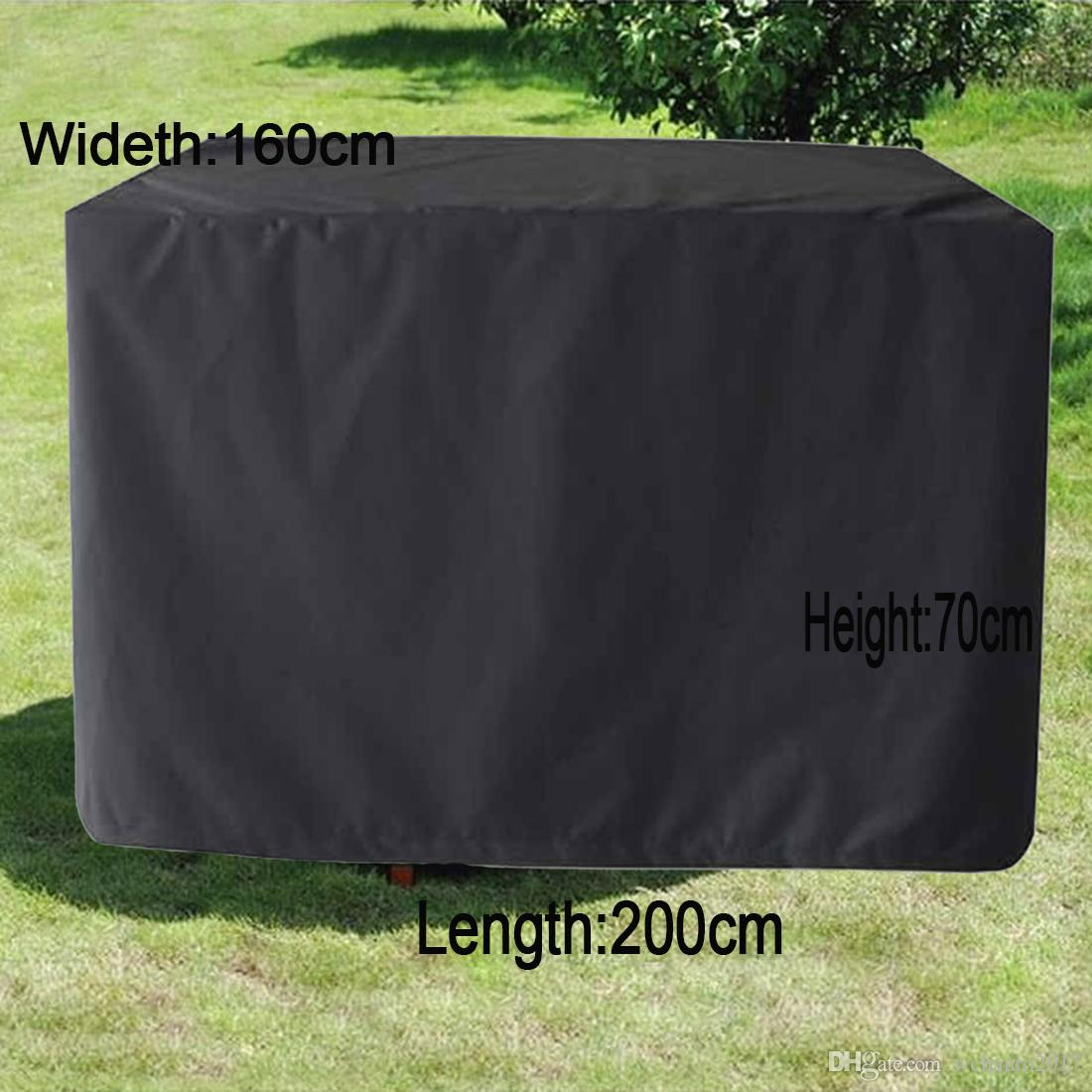2018 200x160x70cm Patio Table Cover Square Waterproof Black Outdoor