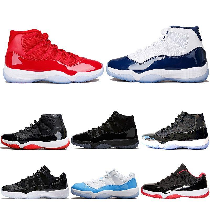7fe2ff983ce32e 2018 Designer Mens 11 UNC Gym Red Trainers Women Basketball Shoes ...