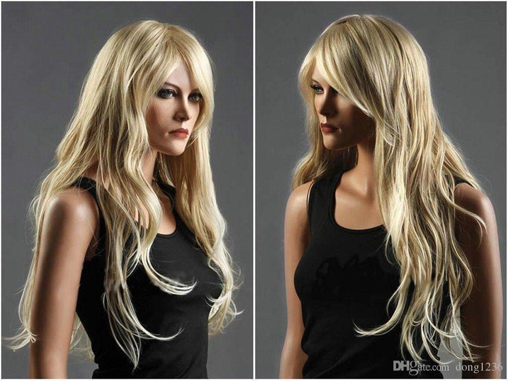 Hot new pretty style long blonde curly Hair Wigs for women wig