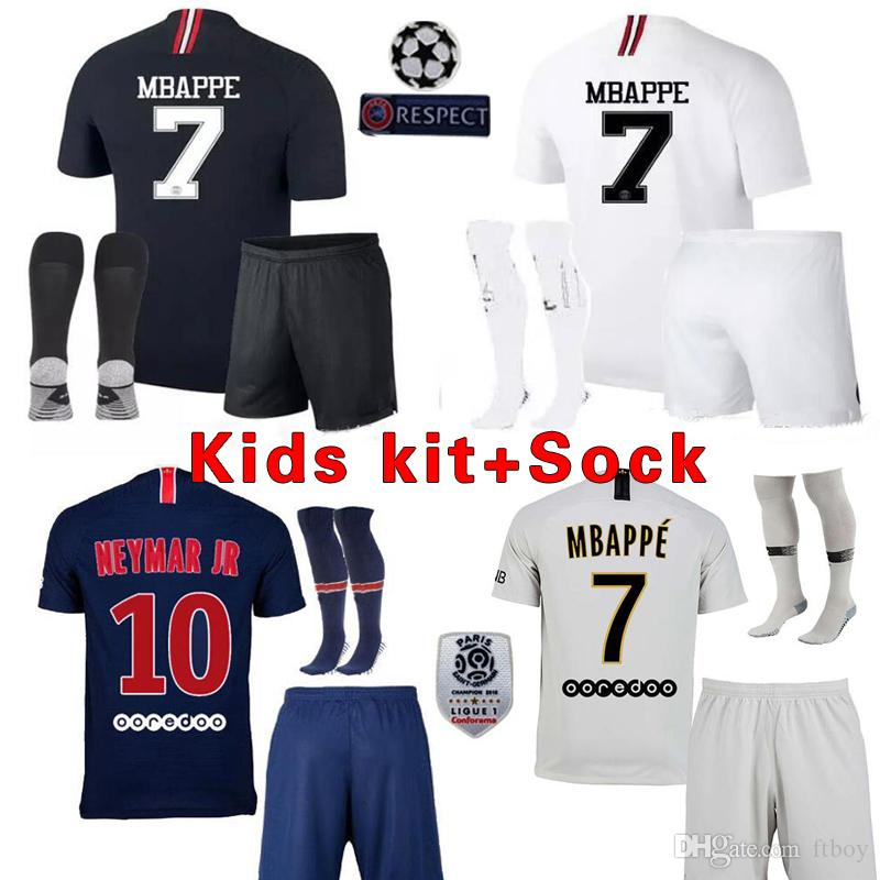 de0624105 18 19 Psg Mbappe Kids Kit Soccer Jerseys 2018 2019 DANI ALVE Home ...