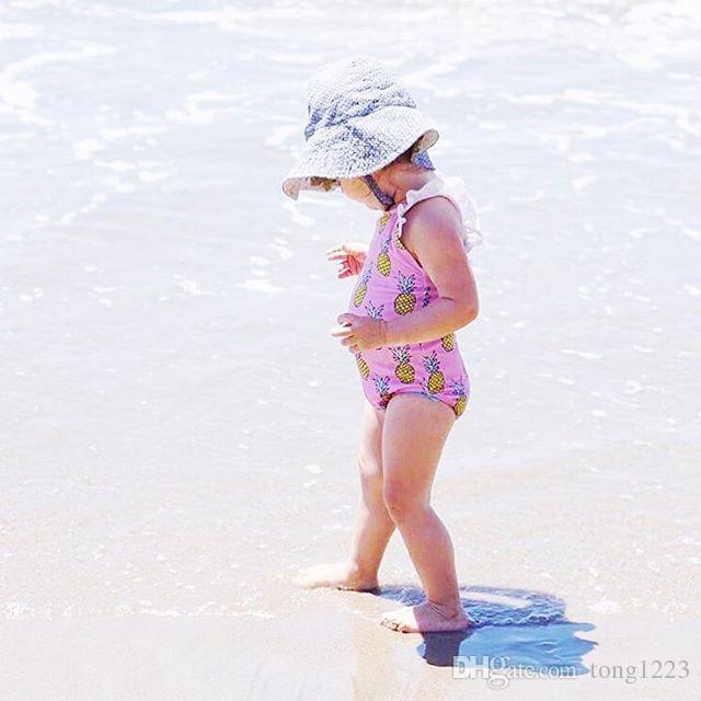 детские ванны костюм Майо де bain femme 0-4 лет дети дети печати бандаж девушки малыш One piece купальники купальник