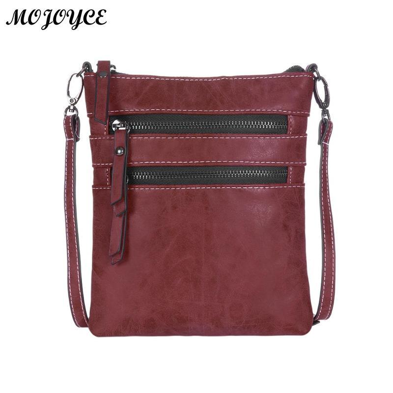 4084f79c15 Vintage Unisex Messenger Bag Solid Color PU Leather Square Crossbody Bags  Handbags Casual Zipper Shoulder Handbag For Women Men Wholesale Purses  Designer ...