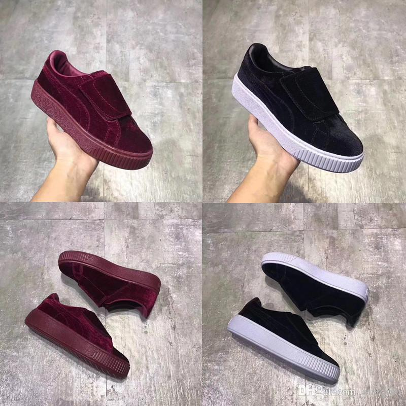 2018 High Quality Rihanna Suede Creepers Velvet Running Shoes Fenty ... a78a052ee
