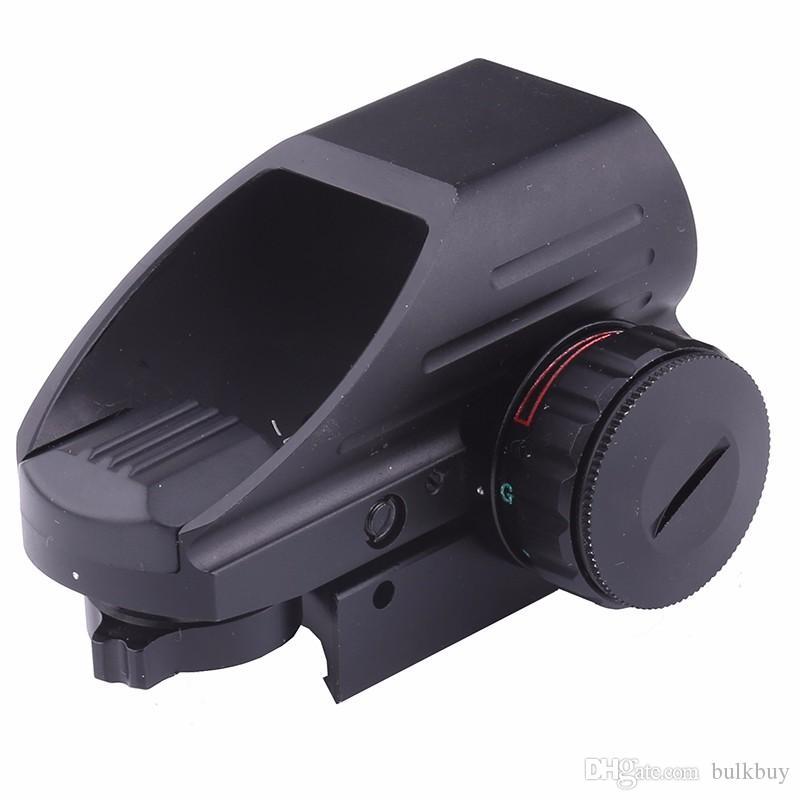 새로운 4 개의 레티클 전술 반사 적색 / 녹색 레이저 홀로 그래픽 투사 거리 스코프 에어건 라이플 시력 사냥 용 레일 마운트 20mm