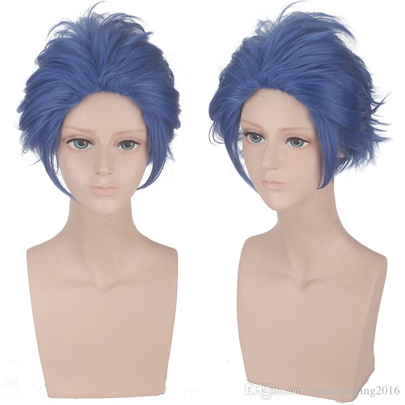 Cosplay wig Claudia Hawkins Hairstyle Anime Violet Garden Character Wig Benedictine Blue Gilbert Bugberry Violet Character hair styling