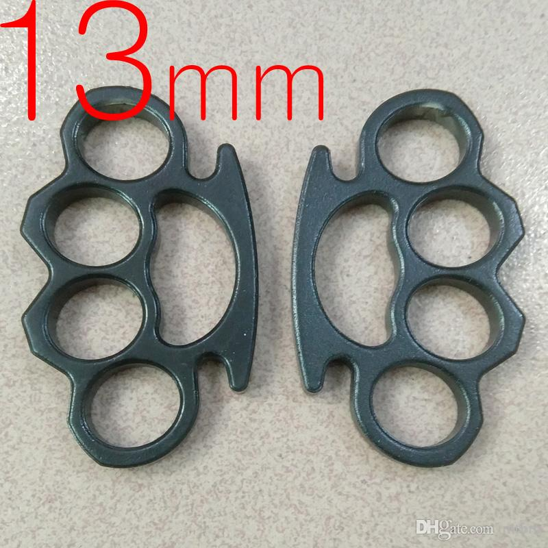 Thick and heavy 13mm thickness STEEL BRASS KNUCKLE DUSTER self defense tool brass knuckle clutch