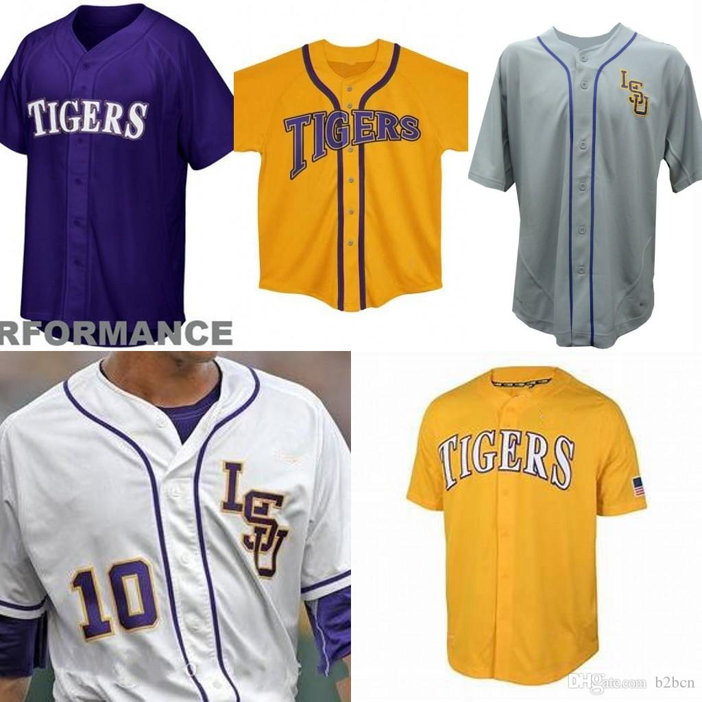 cheaper 111eb 60bb0 Custom youth LSU Tigers College Baseball 8 Alex Bregman Purple Gold White  Yellow DJ LeMahieu Nola Gausman Any Name Number Jerseys