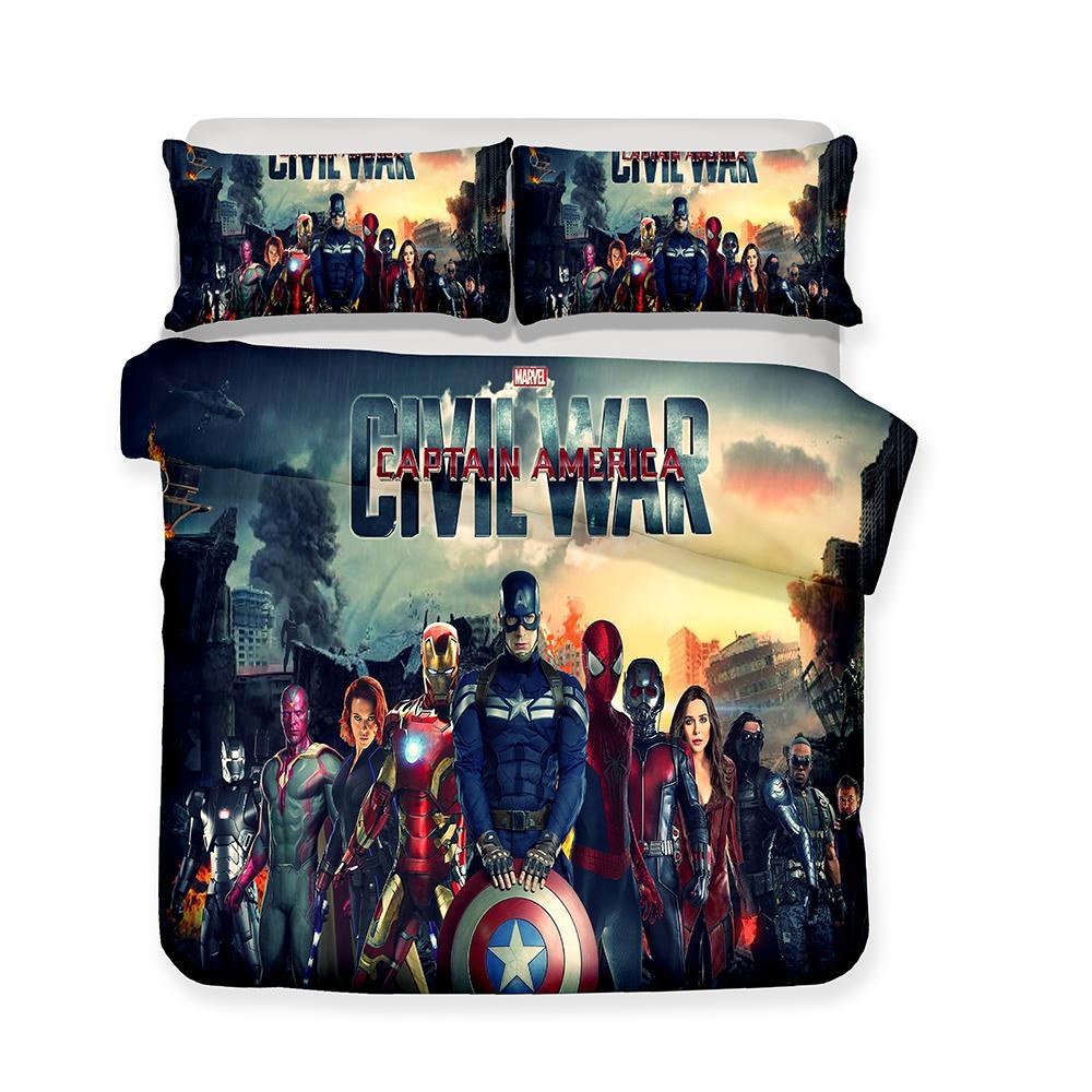 Großhandel 3d Bedruckte Bettwäsche Marvel The Avengers Bettwäsche