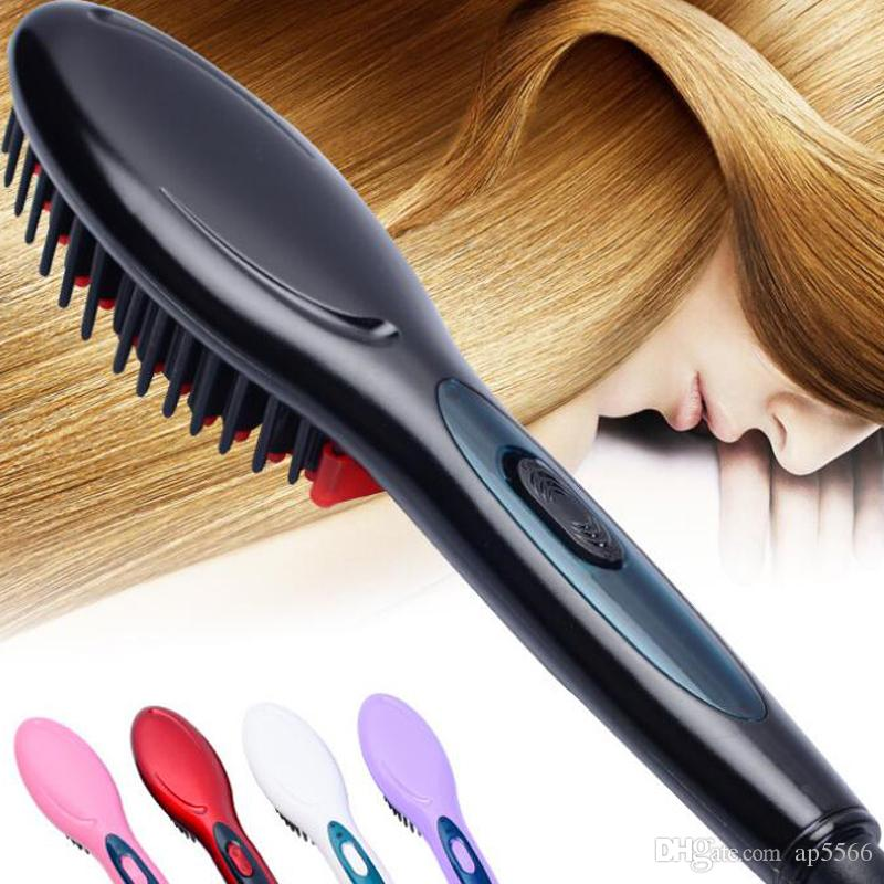 Electric hair straightener brush Hair Care Styling Comb Auto Massager Straightening Irons Simply Fast Hair iron