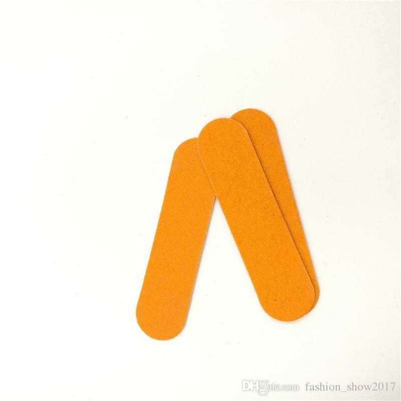Mini lime unghie professionali Strumenti artistici Cartoncino smerigliato Carta vetrata Smalto unghie a doppia faccia Grana unghie Art