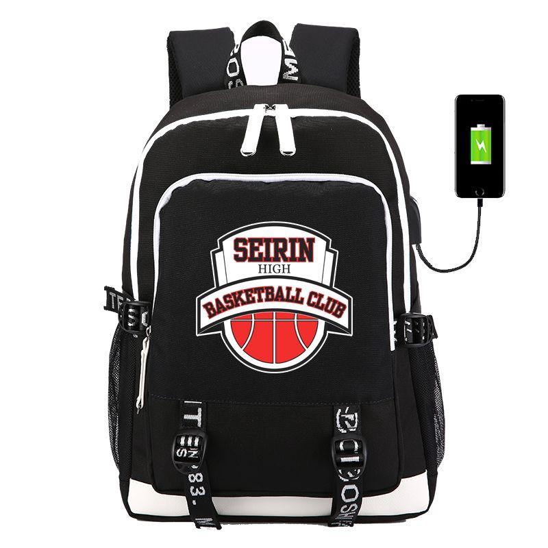 Compre Anime Kuroko No Basket Ball Mochilas De Dibujos Animados Para Niños  Mochila De Carga USB Bolsas De Escuela Para Niños Futbol Deporte Bag  Escolar A ... fcf6cf4c7f7af
