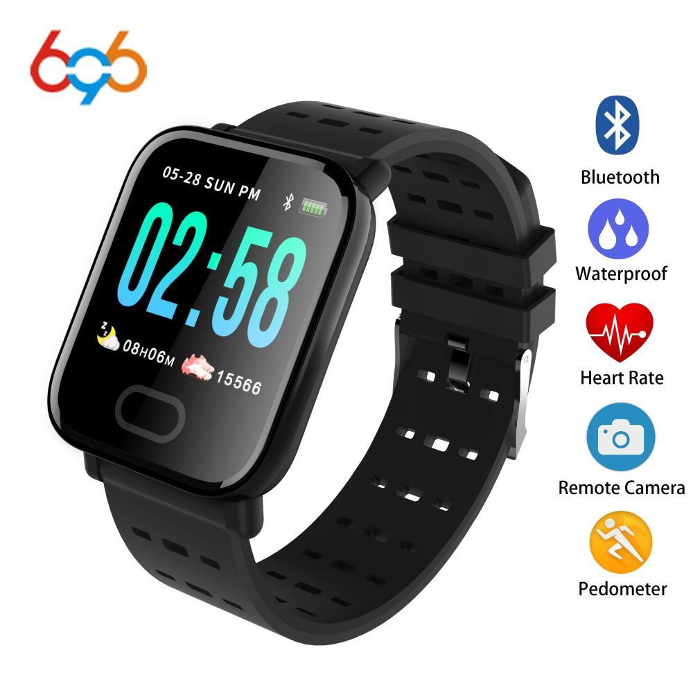 3e6f16bd8f55 696 LJL08 Reloj inteligente Monitor de ritmo cardíaco Sport Fitness Tracker  Presión arterial Recordatorio de llamada Hombres Pulsera inteligente ...