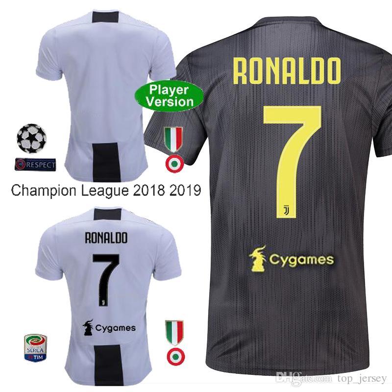 1795ca6b8 New Player Version Ronaldo Juventus Soccer Jersey 18 19 Dybala Home Away  Thai Quality MANDZUKIC MARCHISIO Fans Juvn Ronaldo Football Shirt UK 2019  From ...