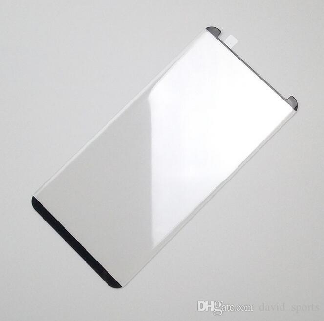 Case Friendly Für Galaxy S9 S9 plus Hinweis 8 S8 Plus S7 S6 edge 3D Abgerundete Seitenscheibe aus gehärtetem Glas mit buntem Holzpaket