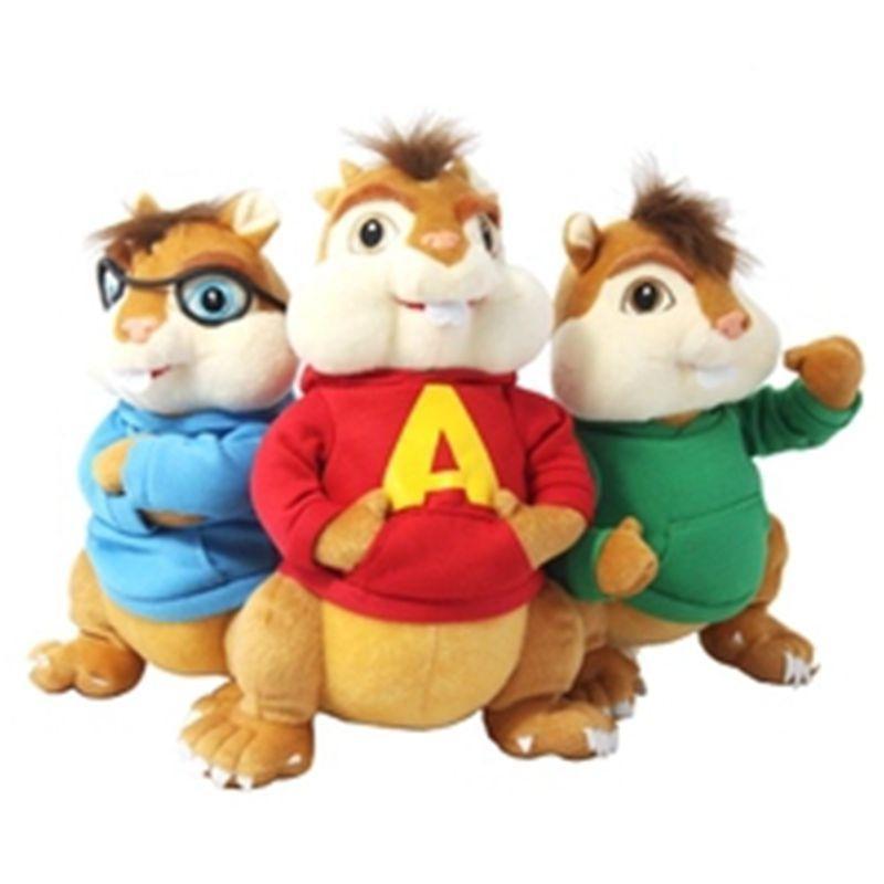 2018 24CM Movie Alvin And The Chipmunks Alvin Soft Plush Toys 2016 ...