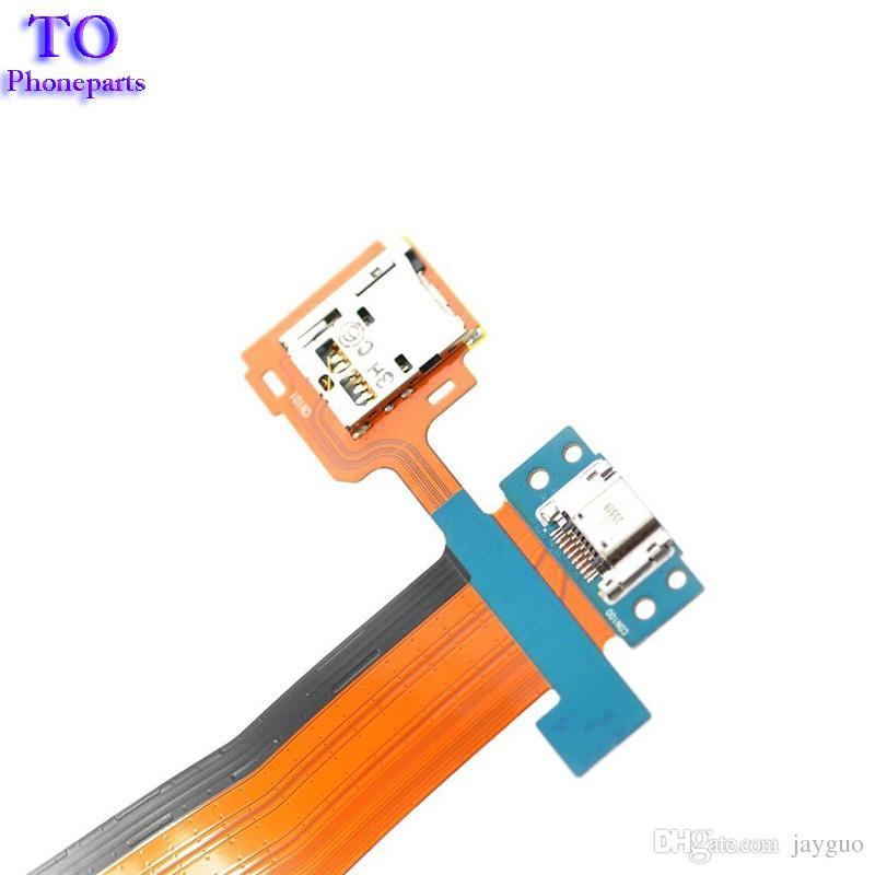 Para Samsung Galaxy Tab S 10.5 T800 Puerto USB Puerto de carga Puerto de carga con lector de tarjetas SD Cable flexible