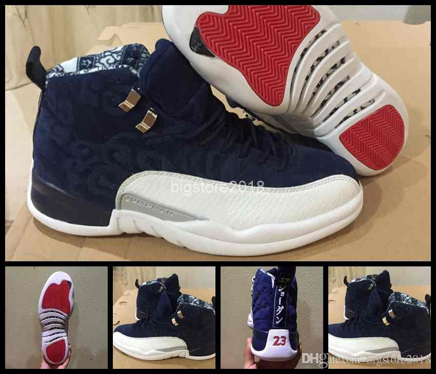 f4612418ce8e37 2018 New Mens 12 XII Basketball Shoes Red Blue JumPMAn Trainers 12s ...