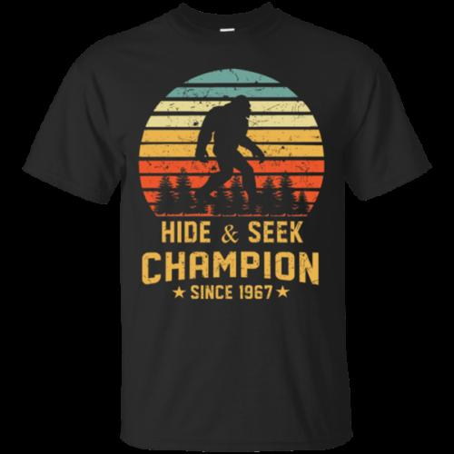 a9a66036e Hide And Seek World Champion T Shirt Bigfoot Retro Vintage Since 1967 Size S  6XL Retro T Shirt Design Tee Shirts From Xm23tshirt, $12.05| DHgate.Com