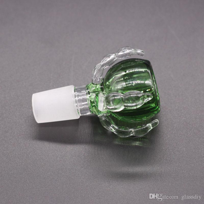 Thick Dragon Claw Male Joint 14mm & 18mm Glass Bowls For Bong Glass Bongs Water Pipes Glass Oil Rig Bongs