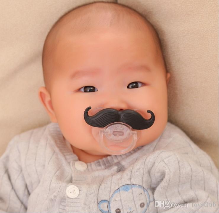 Baby Novità Divertente Baffi Ragazzo Ragazza Infantile 8 stili di silicone Ciuccio Ortodontico Dummy Beard Nipples spedizione gratuita